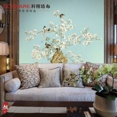 【提花布】科翔新中式无缝墙布,颜2-翾飞,定高2.85米 ( Ⅲ)