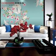 【提花布】科翔新中式无缝墙布,颜2-灵均,定高2.85米 ( Ⅲ)