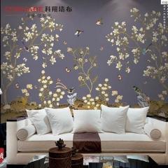 【提花布】科翔新中式无缝墙布 颜2-云旗,定高2.85米 ( Ⅲ)