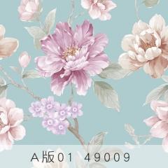 【天丝无纺布】科翔现代简约无缝墙布 ,一抹晨光-繁花 ,定高2.75米( Ⅲ)