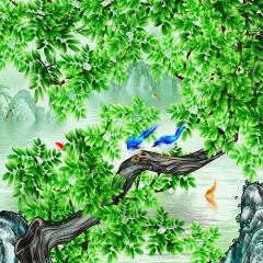 【亚麻布】科翔无缝墙布,蒂卡波-1,定制壁画,定高2.85米 ( Ⅲ)