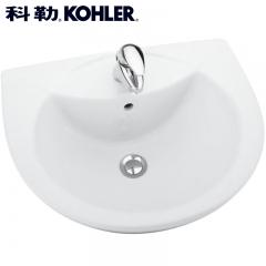 【台盆】科勒奥帝安半嵌入式脸盆K-11160T-1/4/8-0,560×454MM(Ⅰ)