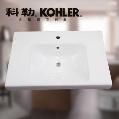 【台盆】科勒瑞琦可挂墙式一体化台盆700MM,K-18572T-1-0(Ⅰ)