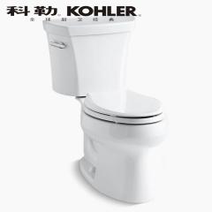 【马桶】科勒纽威氏分体座便器K-3998T-W/4065T-0,760×458×756mm(Ⅰ)