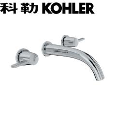 【龙头】科勒K-98276T-4-CP艾丽维双把墙出水脸盆龙头(杆型把手)(Ⅰ)
