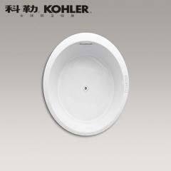 【浴缸】科勒艾芙 1.5米圆形嵌入式泡泡浴缸  K-45719T-G-0(Ⅰ)