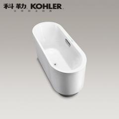 【浴缸】科勒艾芙 1.7米椭圆形嵌入式泡泡浴缸K-45720T-G-0(Ⅰ)