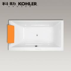 【浴缸】科勒艾芙 1.8米长方形嵌入式泡泡浴缸 K-45718T-G1P/G58-0(Ⅰ)