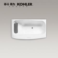 【浴缸】科勒沐云1.7米嵌入式泡泡浴缸含灰色按摩浴枕K-99777T(Ⅰ)