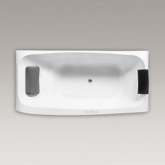 【浴缸】科勒沐云1.8米嵌入式泡泡浴缸含灰色按摩浴枕K-99778T(Ⅰ)