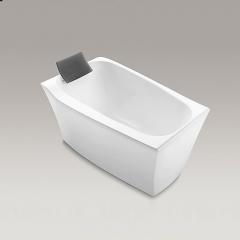【浴缸】科勒沐云1.3米独立缸(含灰色浴枕)K-45599T(Ⅰ)