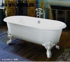 【浴缸】科勒歌莱独立式铸铁浴缸&浴缸装饰脚&落水(Ⅰ)