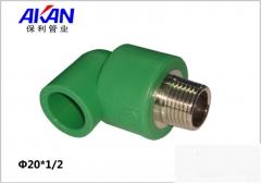 【冷热水管】保利绿色外丝弯头 (Ⅲ)