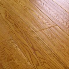 【实木】大友地板橡木拉丝手抓纹小麦色,卢浮宫印象,910*155*18(Ⅰ)