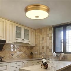 【吸顶灯】A1银海78025 美式乡村玻璃吸顶灯(Ⅴ)