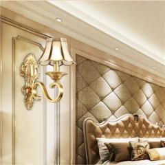 【壁灯】A2 灯盟 7H502全铜灯客厅背景墙卧室床头灯过道灯(Ⅴ)