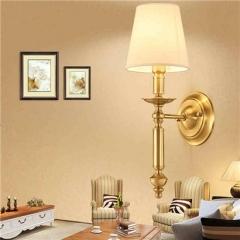 【壁灯】A2灯盟 7Y001-1B 卧室床头灯过道纯铜灯具(Ⅴ)