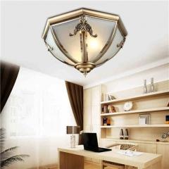 【吸顶灯】A1灯盟 7H06卧室客厅书房灯饰铜灯美式LED吸顶灯(Ⅴ)