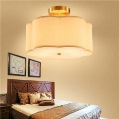 【吸顶灯】A1灯盟 7Y015-5F田园餐厅灯卧室灯简约大气书房纯铜灯具(Ⅴ)
