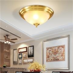 【吸顶灯】A1灯盟丨W052-3C 卧室客厅书房灯饰纯铜水晶LED吸顶灯(Ⅴ)