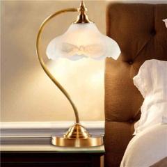 【台灯】A2 灯盟 7H33-1T 客厅田园卧室床头灯书房灯纯铜灯具(Ⅴ)