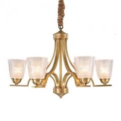 【吊灯】A3可琪洛 T104客厅卧室玻璃罩吊灯书房餐厅灯(Ⅴ)