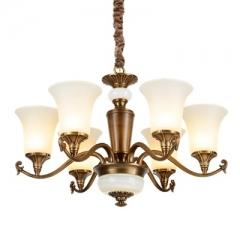 【吊灯】A3可琪洛 8003客厅卧室玻璃罩吊灯云石书房餐厅灯(Ⅴ)