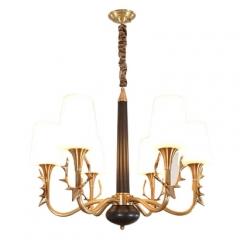 【吊灯】A3可琪洛 8006客厅卧室玻璃罩吊灯书房餐厅灯(Ⅴ)