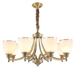 【吊灯】A3可琪洛 T135客厅全铜吊灯卧室玻璃罩餐厅卧室灯(Ⅴ)