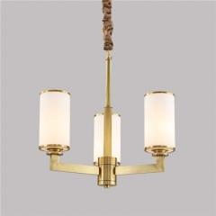 【吊灯】A3可琪洛 8004客厅铜吊灯卧室玻璃罩吊灯书房餐厅灯(Ⅴ)