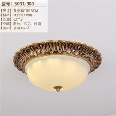 【吸顶灯】A1晶品3031欧式卧室锌合金圆形吸顶灯(Ⅴ)