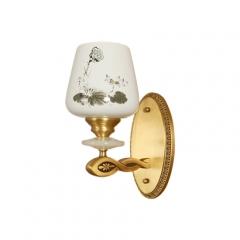 【壁灯】(预售7天)A2木明原 6810客厅全铜壁灯陶瓷卧室床头灯楼梯壁灯(Ⅴ)