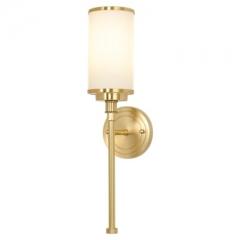 【壁灯】A2木明原 8808卧室全铜床头客厅田园风背景墙玻璃壁灯(Ⅴ)