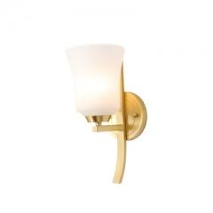 【壁灯】A2木明原 8809-1 卧室单头全铜床头壁灯客厅电视墙玻璃壁灯(Ⅴ)