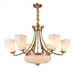 【吊灯】(预售15天)A3达米奇 3DN155餐厅吊灯卧室别墅客厅全铜吊灯(Ⅴ)
