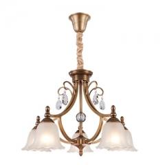 【吊灯】(预售15天)A3达米奇 3DN143卧室别墅餐厅全铜水晶书房吊灯(Ⅴ)