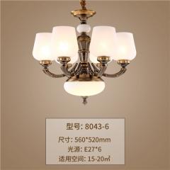 【吊灯】正益照明8043欧式吊灯(Ⅴ)