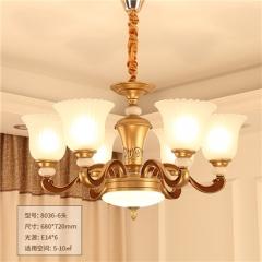 【吊灯】正益照明8036欧式复古玉石吊灯(Ⅴ)