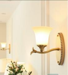 【壁灯】美世尚品 XD093-1 美式乡村全铜客厅壁灯(Ⅴ)