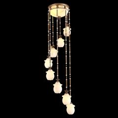 【吊灯】博普8720-8欧式楼梯全铜吊灯(Ⅴ)
