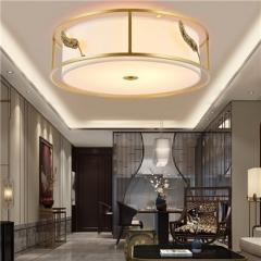 【吸顶灯】誉美Y006-36cm-50cm 新中式铁艺锌合金布布罩卧室书房餐厅客厅吸顶灯(Ⅴ)