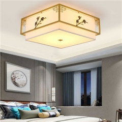 【吸顶灯】誉美Y007-48cm-63cm 新中式铁艺锌合金卧室书房餐厅客厅方形吸顶灯(Ⅴ)