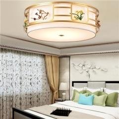 【吸顶灯】誉美Y008-40cm-60cm-80cm 新中式铁艺锌合金圆形吸顶灯(Ⅴ)