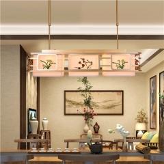 【吸顶灯】誉美Y008-92*33cm 新中式铁艺锌合金布布罩卧室书房餐厅客厅长方形吸顶灯(Ⅴ)