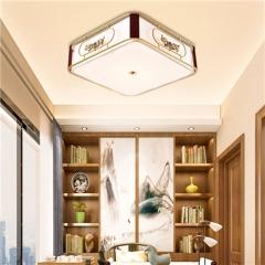 【吸顶灯】誉美Y009-40cm50cm60cm 新中式铁艺锌合金布布罩卧室书房餐厅客厅吸顶灯(Ⅴ)
