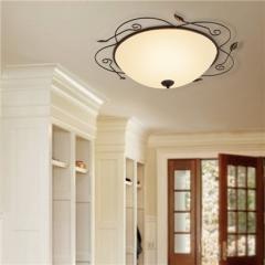 【吸顶灯】贺曼照明1852  美式客厅铁艺卧室田园餐厅复古玻璃吸顶灯(Ⅴ)