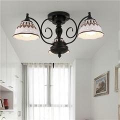【吊灯】贺曼照明1841  美式乡村铁艺客厅复古田园卧室餐厅吊灯(Ⅴ)