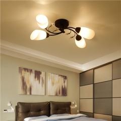 【吸顶灯】贺曼照明6027  美式卧室铁艺书房田园艺术餐厅吸顶灯(Ⅴ)