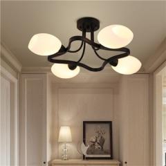 【吸顶灯】贺曼照明5018   美式卧室铁艺书房田园艺术餐厅吸顶灯(Ⅴ)