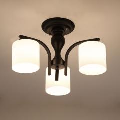 【吸顶灯】异虎72235 美式客厅铁艺吸顶灯美式乡村餐厅玻璃吸顶灯(Ⅴ)